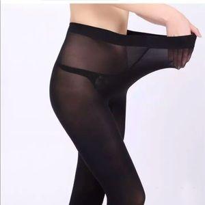 Black Stockings Pantyhose New Small